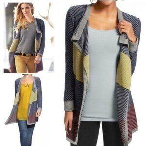 CAbi #467 Medium Colorblock Blanket Sweater Cardig